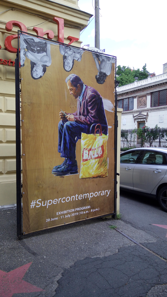 #Supercontemporary exhibition of contemporary art at Artmark Auction House in Bucharest
